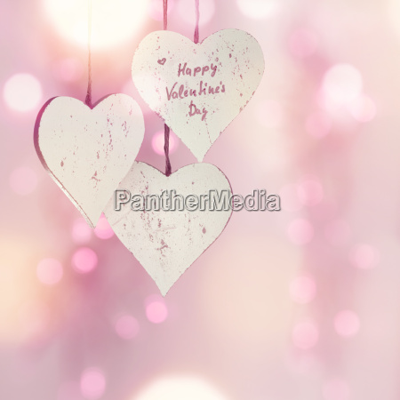 tender pink hearts for valentines day