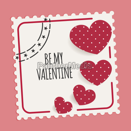be my valentine card with stamp