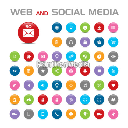 social media icons buble