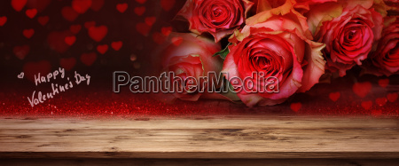 red roses for valentines day