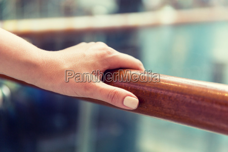 close up of woman hand holding