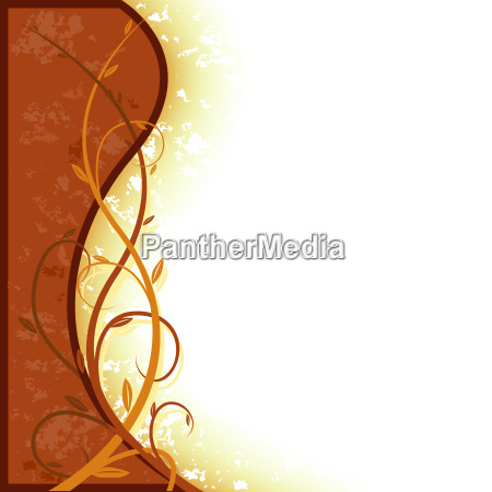 brown entwined floral