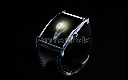 close up of smart watch with