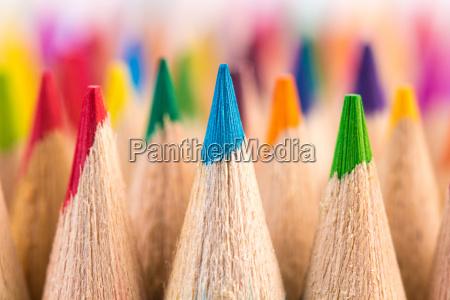 makroaufnahme der farbbleistift