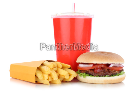 hamburger menu menu menu french fries