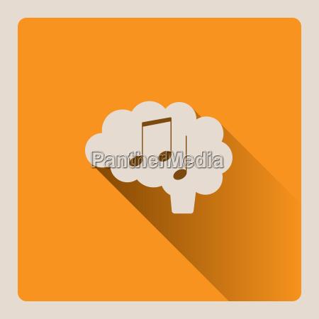 gehirn denken in musik abbildung auf