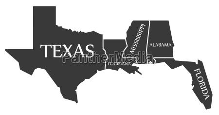 texas louisiana mississippi