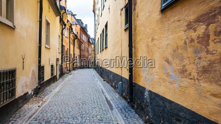 fussgaengerzone prastgatan in stockholm stadt