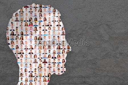 menschen collage konzept