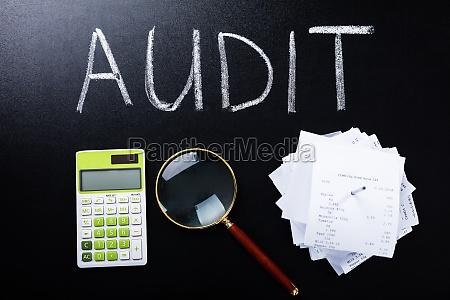 audit konzept auf tafel