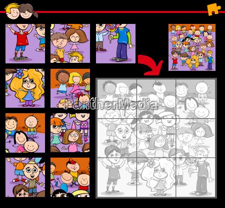 puzzle mit kindern