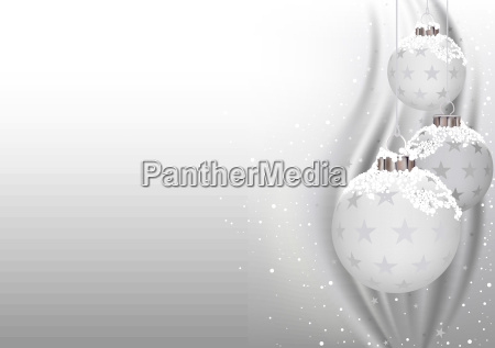 white christmas baubles background