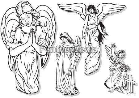 weibliche engel set
