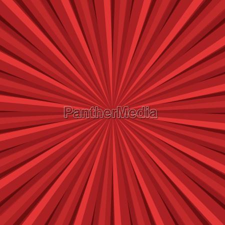 red rays retro background