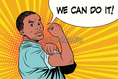 we can do it protester black