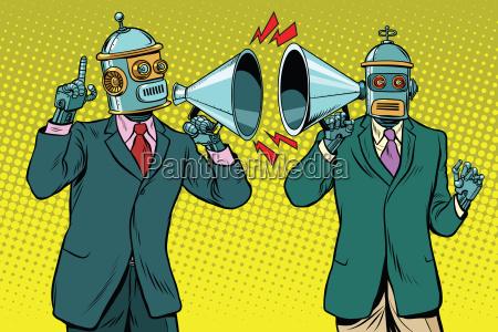 weinlese ein dialog zwischen zwei roboter