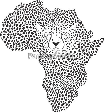 symbol afrika in gepard camuflage