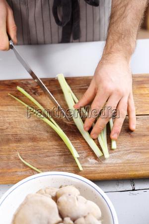 cutting vegetables slicing knife vegetables cook
