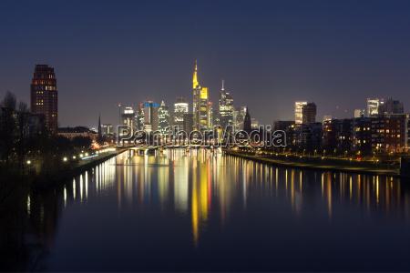 nacht frankfurt am main deutschland