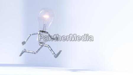 running bulb manikin