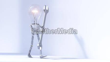 bulb manikin carrying wrench