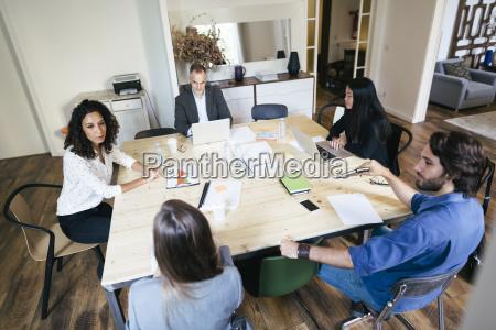 business people having a team meeting