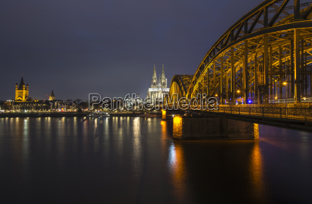 germany cologne view to gross sankt
