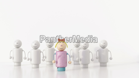 female figurine standing out from the