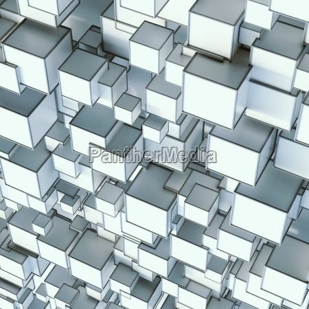pattern of angular shapes 3d rendering
