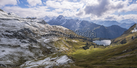 germany allgaeu alps panoramic view from