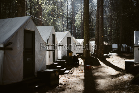 tents cabins in curry village at