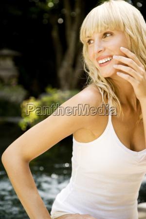 beauty portrait of a smiling woman