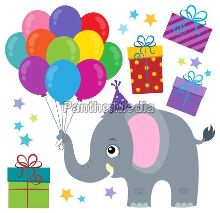 party elephant theme image 1