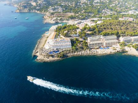 spanien mallorca luftaufnahme von hotels in