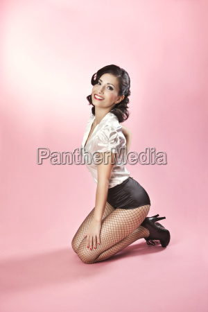 woman in pin up style posing