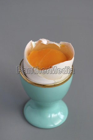 raw egg in an eggcup