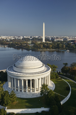 usa washington dc aerial photograph of