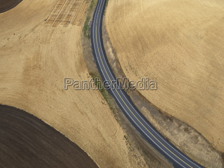 usa washington state palouse hills road