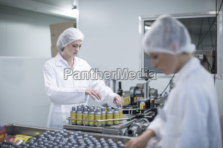 staff working in medical factory