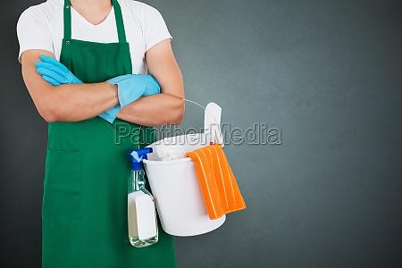 janitor halten reinigungsgeraete