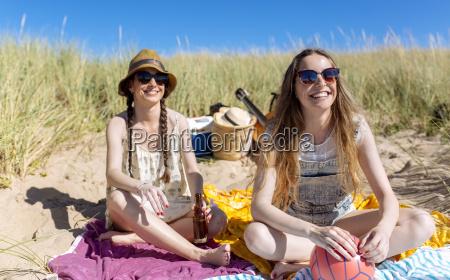 portrait of happy teenage girl having