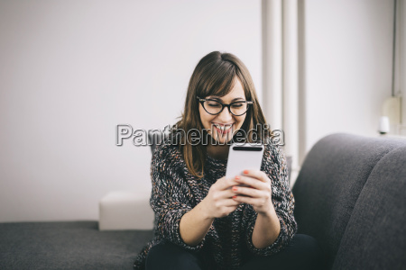 happy young woman relaxing on the
