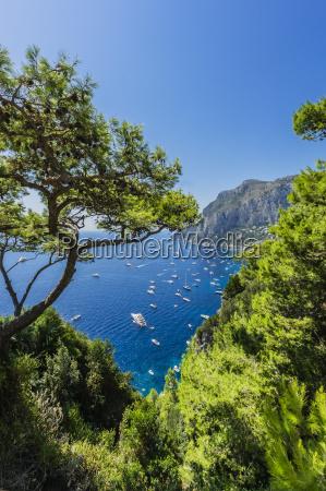 italy capri view to bay of