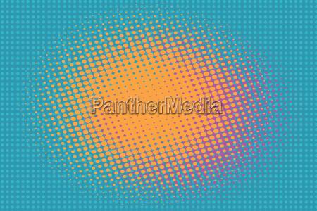 orange spot on a blue background