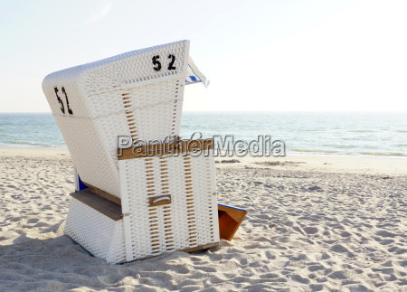 beach chair by the sea in