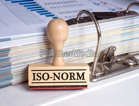 iso standard stamp with folder