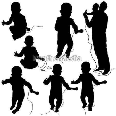 baby dj silhouetten