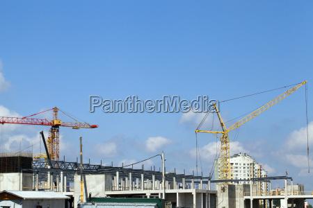 construction of a shopping center