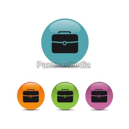 white briefcase icon