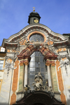 historic facade of the baroque asam